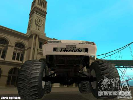 Elegy Monster для GTA San Andreas вид изнутри