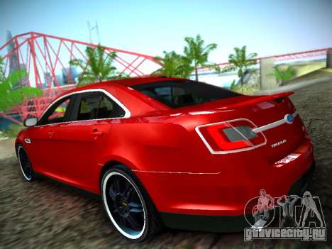 Ford Taurus SHO 2011 для GTA San Andreas вид слева