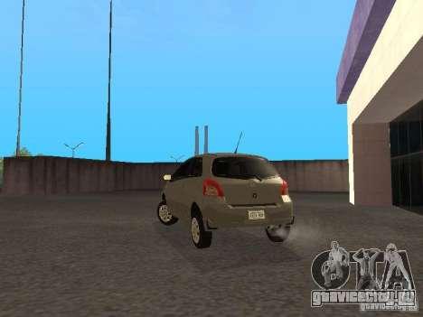 Toyota Yaris Sport 2008 для GTA San Andreas вид сзади слева