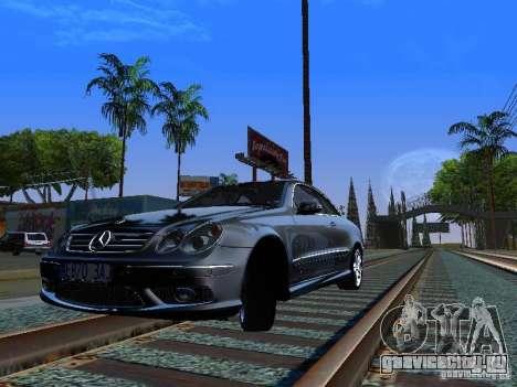 Mercedes-Benz CLK55 AMG для GTA San Andreas вид сзади слева