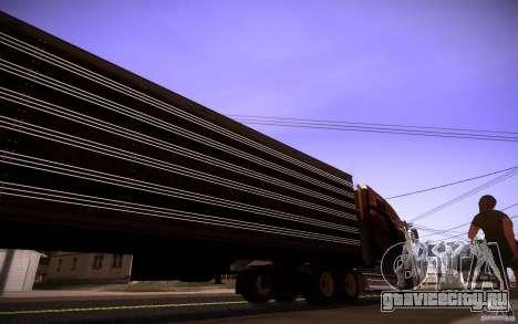 Box Trailer для GTA San Andreas вид сзади слева