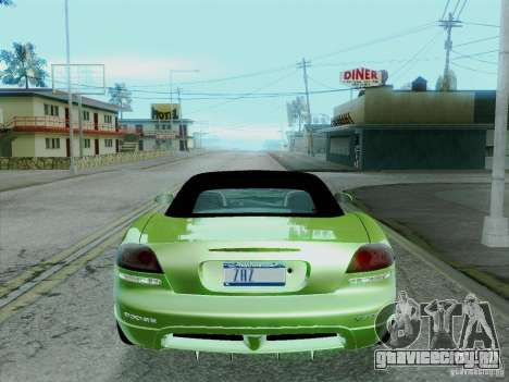 Dodge Viper SRT-10 Roadster для GTA San Andreas вид сзади слева
