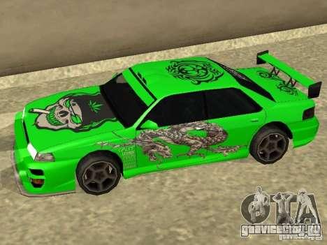 Винил для Sultan для GTA San Andreas вид слева