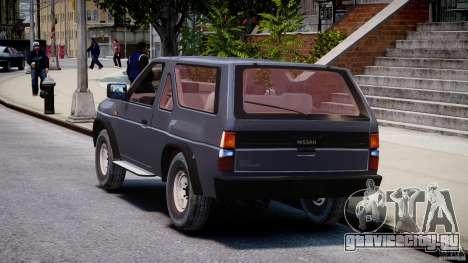 Nissan Terrano для GTA 4 вид сзади слева