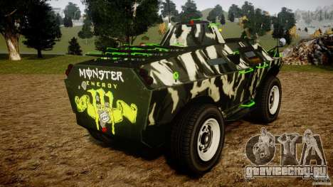 Monster APC для GTA 4 вид сзади слева