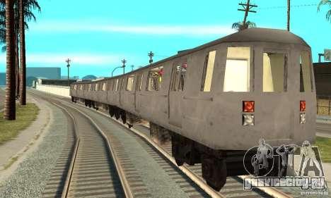 Liberty City Train GTA3 для GTA San Andreas вид сзади слева