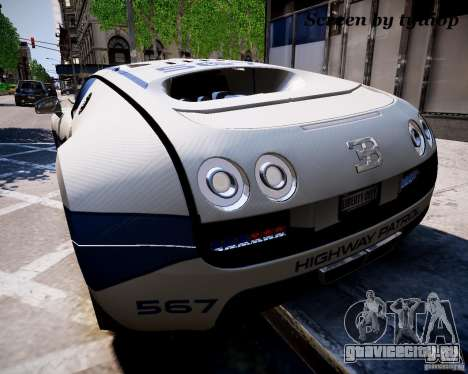 Bugatti Veryon SS COP для GTA 4 вид слева