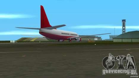 Boeing 737 для GTA Vice City вид сзади слева