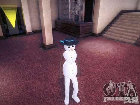 Снеговик для GTA San Andreas