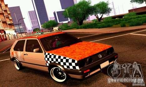 Volkswagen MK II GTI Rat Style Edition для GTA San Andreas вид слева