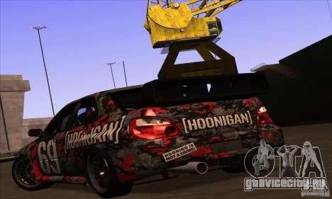 Subaru Impreza WRX STi Gymkhana для GTA San Andreas салон