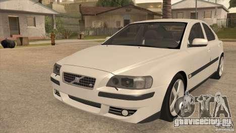 Volvo S60R для GTA San Andreas вид изнутри