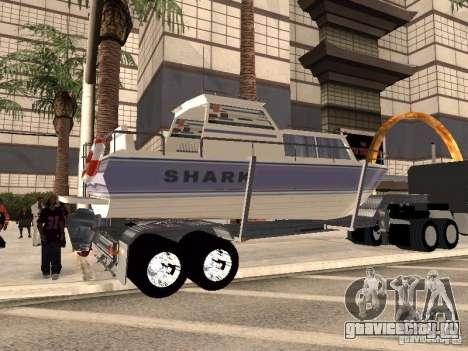 Boat Trailer для GTA San Andreas вид сзади слева