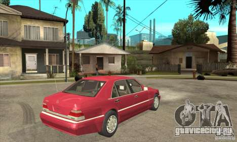Mercedes-Benz S600 1999 для GTA San Andreas вид сзади