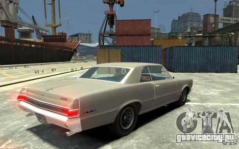 Pontiac GTO v1.1 для GTA 4 вид справа