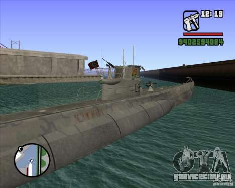 U99 German Submarine для GTA San Andreas пятый скриншот