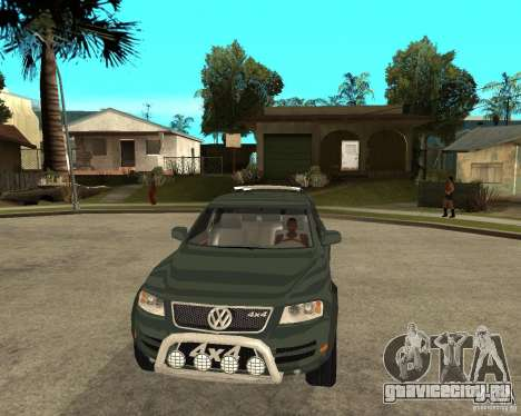 Volkswagen Touareg V10TDI 4x4 для GTA San Andreas вид сзади
