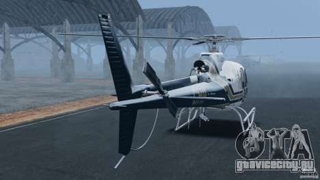 Eurocopter AS350 Ecureuil (Squirrel) для GTA 4 вид сзади слева