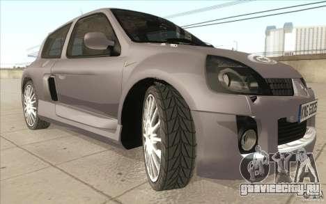Renault Clio V6 для GTA San Andreas вид сверху