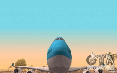 Boeing-747 Corsair Fly для GTA San Andreas вид сбоку