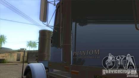 Phantom из GTA IV для GTA San Andreas вид изнутри
