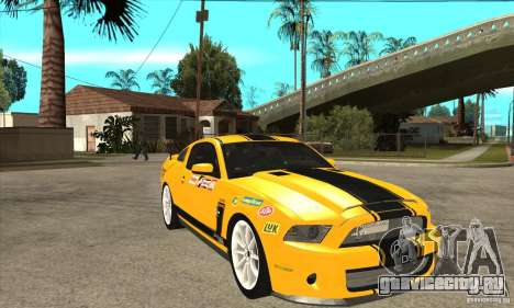 Ford Shelby GT500 Supersnake 2010 для GTA San Andreas вид сзади