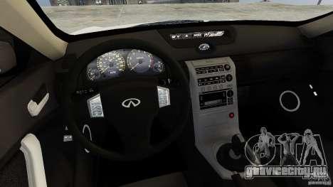 Infiniti G35 для GTA 4 вид изнутри