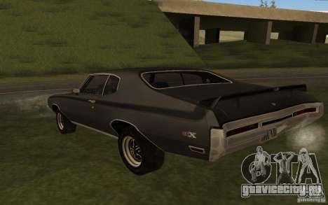 Buick GSX 1970 для GTA San Andreas вид сзади слева
