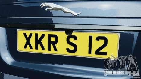 Jaguar XKR-S Trinity Edition 2012 v1.1 для GTA 4 салон
