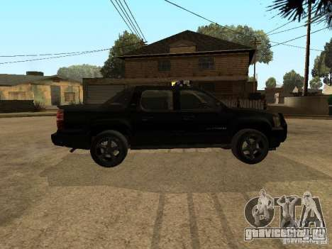 Chevrolet Avalanche Police для GTA San Andreas вид слева