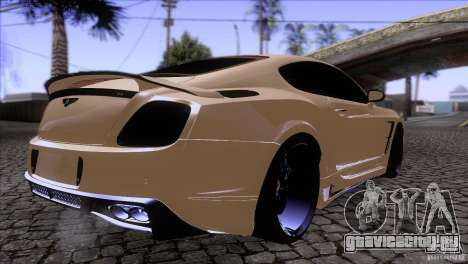 Bentley Continental GT Premier 2008 V2.0 для GTA San Andreas вид изнутри