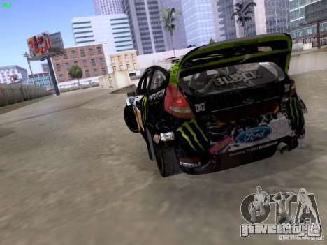 Ken Block Ford Fiesta 2012 для GTA San Andreas вид изнутри