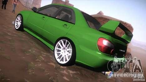 Subaru Impreza WRX STi для GTA San Andreas вид сзади