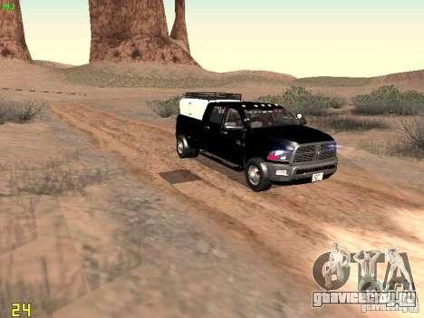Dodge Ram 3500 Unmarked для GTA San Andreas вид изнутри