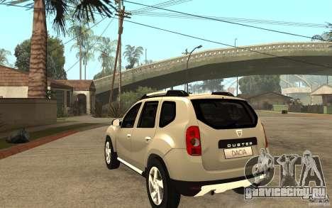 Dacia Duster 2010 SUV 4x4 для GTA San Andreas вид сзади слева