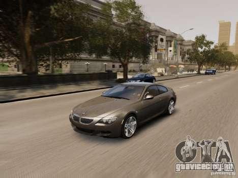 BMW M6 2010 для GTA 4 вид снизу