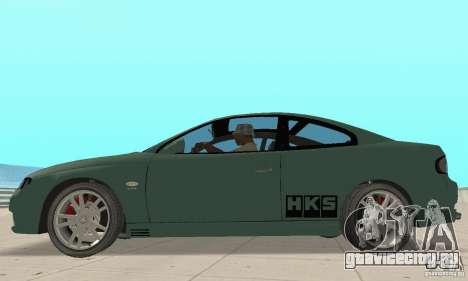 Vauxhall Monaro VXR Open SKY 2004 для GTA San Andreas вид сзади слева