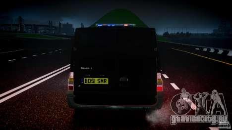 Ford Transit SWAT [ELS] для GTA 4 вид снизу