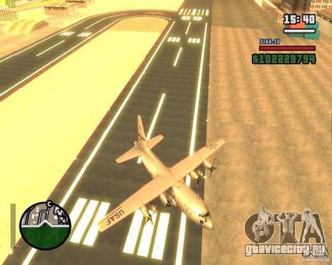 C-130 hercules для GTA San Andreas вид сбоку