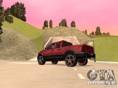 Dodge Ram 2010 для GTA San Andreas вид сзади слева