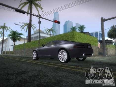 Aston Martin DB9 для GTA San Andreas вид сзади