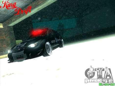 Subaru Impreza WRX Police для GTA San Andreas вид снизу