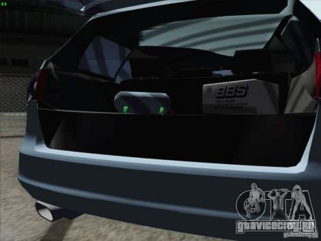 Volkswagen Passat B6 Variant Stance 2007 для GTA San Andreas вид изнутри