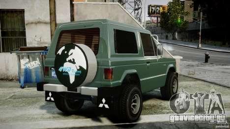 Mitsubishi Pajero I [Final] для GTA 4 вид сзади слева