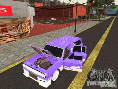 ГАЗ 24-12 Lowrider для GTA San Andreas вид сзади слева