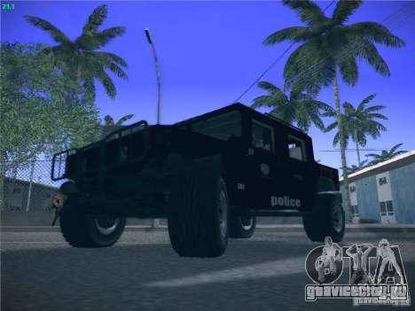 Hummer H1 1986 Police для GTA San Andreas вид сзади