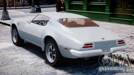 Pontiac Firebird Esprit 1971 для GTA 4 вид справа