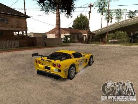 Chevrolet Corvette C6-R для GTA San Andreas вид сзади слева