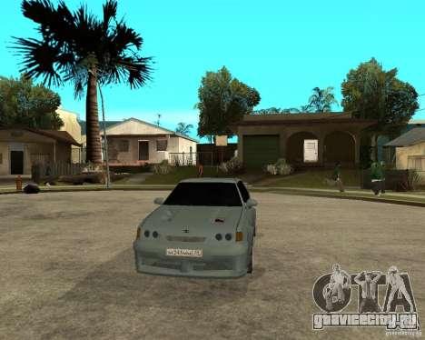 ВАЗ 2115 TTC Tuning для GTA San Andreas вид сзади