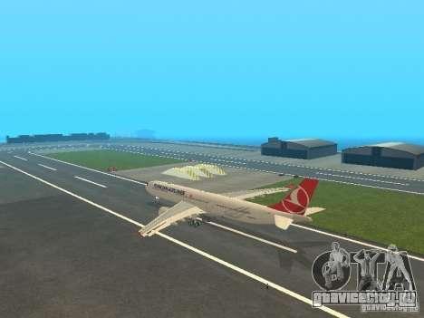 Airbus A330-300 Turkish Airlines для GTA San Andreas вид сзади слева